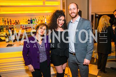 Tina Cavallaro, Nazi Fadaxi, Taylor Paff. Photo by Alfredo Flores. Evening with Bob Paff. POV at W Hotel Washington DC. February 25, 2016