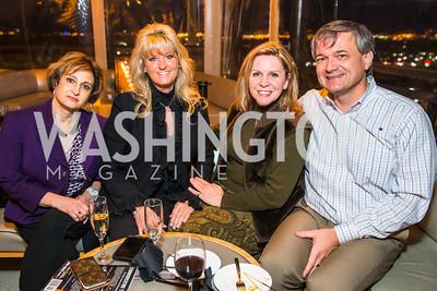 Tina Cavallaro, Marilyn Payne, Jacqui Nigh, Dean Michaels. Photo by Alfredo Flores. Evening with Bob Paff. POV at W Hotel Washington DC.CR2