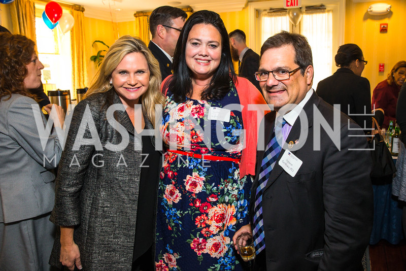 Robin Ganzert, Summer Robertson, Rep. Gus Bilirakis. Photo by Alfredo Flores. Fifth Annual Memorial Day Kick-Off and Tribute to Veterans and Veterans with Congress. Capitol Hill Club. May 24, 2016