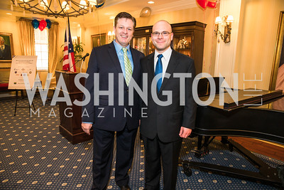 Anthony Kearns, Jon Laird. Photo by Alfredo Flores. Fifth Annual Memorial Day Kick-Off and Tribute to Veterans and Veterans with Congress. Capitol Hill Club. May 24, 2016
