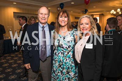 David Rivard, Nancy Rivard, Deborah Sigmund. Photo by Alfredo Flores. Fifth Annual Memorial Day Kick-Off and Tribute to Veterans and Veterans with Congress. Capitol Hill Club. May 24, 2016