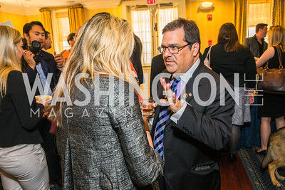 Robin Ganzert, Rep. Gus Bilirakis. Photo by Alfredo Flores. Fifth Annual Memorial Day Kick-Off and Tribute to Veterans and Veterans with Congress. Capitol Hill Club. May 24, 2016