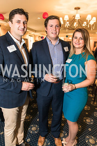 Michael Hope, Brad Bishop, Chelsea Marlow. Photo by Alfredo Flores. Fifth Annual Memorial Day Kick-Off and Tribute to Veterans and Veterans with Congress. Capitol Hill Club. May 24, 2016