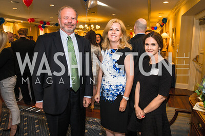 Mark Strand, Kerry Giangobbe, Kristen Douglas. Photo by Alfredo Flores. Fifth Annual Memorial Day Kick-Off and Tribute to Veterans and Veterans with Congress. Capitol Hill Club. May 24, 2016