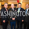 Rep. Peter King, Colonel James Tiernery, Anthony Kearns, Jon Laird. Photo by Alfredo Flores. Fifth Annual Memorial Day Kick-Off and Tribute to Veterans and Veterans with Congress. Capitol Hill Club. May 24, 2016
