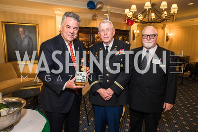 Rep. Peter King,  Lawrence Fedewa, Colonel James Tiernery, . Photo by Alfredo Flores. Fifth Annual Memorial Day Kick-Off and Tribute to Veterans and Veterans with Congress. Capitol Hill Club. May 24, 2016