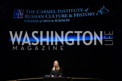 Susan Carmel. Photo by ImageLink photo.com. Fifth Annual Symposium of The Carmel Institute — U.S., Russia and The International Space Station, Partners in Orbit. Smithsonian's National Air and Space Museum. April 19, 2016.