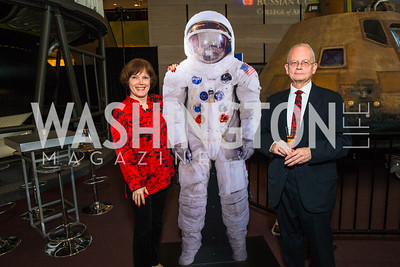 Tatyana Olson, Alex Van Oss. Photo by Alfredo Flores. Fifth Annual Symposium of The Carmel Institute — U.S., Russia and The International Space Station, Partners in Orbit. Smithsonian's National Air and Space Museum. April 19, 2016.
