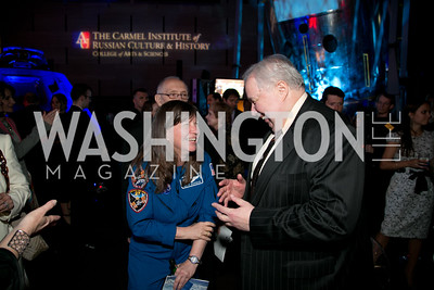 Col. Cady Coleman, Ambassador Sergey Kislyak. Photo by ImageLink photo.com. Fifth Annual Symposium of The Carmel Institute — U.S., Russia and The International Space Station, Partners in Orbit. Smithsonian's National Air and Space Museum. April 19, 2016.