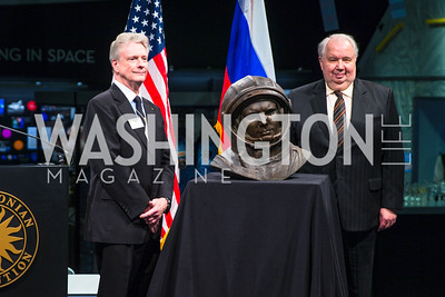 Roger Launius, Ambassador of the Russian Federation to the U.S. Sergey I. Kislyak. Photo by Alfredo Flores. Fifth Annual Symposium of The Carmel Institute — U.S., Russia and The International Space Station, Partners in Orbit. Smithsonian's National Air and Space Museum. April 19, 2016.
