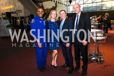 Alvin Drew, Michelle Lucas, Frank Culbertson, Richard Obermann. Photo by Alfredo Flores. Fifth Annual Symposium of The Carmel Institute — U.S., Russia and The International Space Station, Partners in Orbit. Smithsonian's National Air and Space Museum. April 19, 2016.