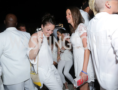 Alexandra Portney, Caitlyn Potts. Photo by Tony Powell. Fourth Annual All-White Clothing Charity Event. June 2, 2016