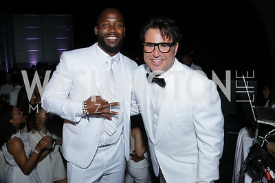 Pierre Garçon, Josh Sagman. Photo by Tony Powell. Fourth Annual All-White Clothing Charity Event. June 2, 2016