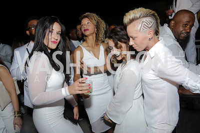 Ashley Banek, Estelle Johnson, Lucy Keener, Joanna Lohman. Photo by Tony Powell. Fourth Annual All-White Clothing Charity Event. June 2, 2016