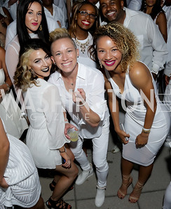 Lucy Keener, Joanna Lohman, Estelle Johnson. Photo by Tony Powell. Fourth Annual All-White Clothing Charity Event. June 2, 2016