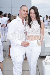 Josh Ross, Alexandra Puderbaugh. Photo by Tony Powell. Fourth Annual All-White Clothing Charity Event. June 2, 2016