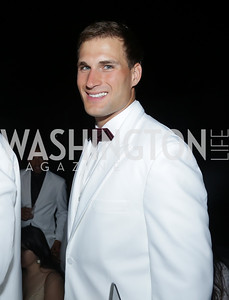 Redskin Kirk Cousins. Photo by Tony Powell. Fourth Annual All-White Clothing Charity Event. June 2, 2016