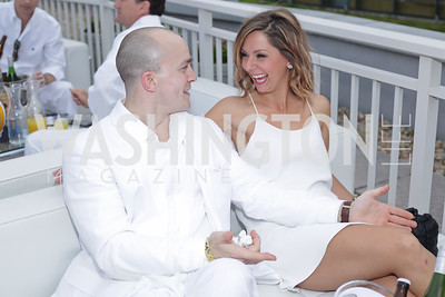 Timothy Hatton, Abby Daley. Photo by Tony Powell. Fourth Annual All-White Clothing Charity Event. June 2, 2016