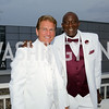 Former Redskins players Joe Theismann and Doc Walker. Photo by Tony Powell. Fourth Annual All-White Clothing Charity Event. June 2, 2016