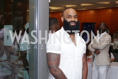 Redskin Niles Paul. Photo by Tony Powell. Fourth Annual All-White Clothing Charity Event. June 2, 2016