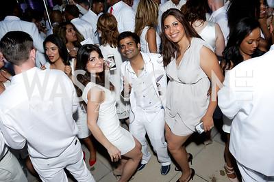 Samira Nikain, Prav Saraff, Mayra Foster. Photo by Tony Powell. Fourth Annual All-White Clothing Charity Event. June 2, 2016