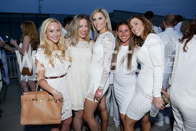 Alicia Froio, Shari Shaw, Karyn Ross, Nikki Herson, Shari Abramson. Photo by Tony Powell. Fourth Annual All-White Clothing Charity Event. June 2, 2016