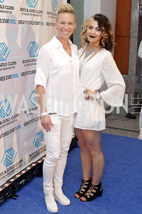 Washington Spirits player Joanna Lohman, Lucy Keener. Photo by Tony Powell. Fourth Annual All-White Clothing Charity Event. June 2, 2016