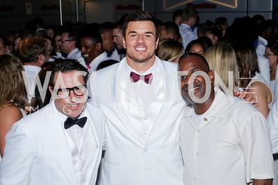 Josh Sagman, Redskin Ryan Kerrigan, BGCGW President and CEO Jim Almond. Photo by Tony Powell. Fourth Annual All-White Clothing Charity Event. June 2, 2016