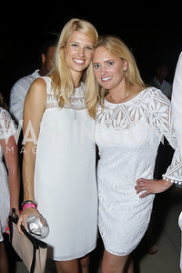 Rachel McCoy, Lisa Mortier. Photo by Tony Powell. Fourth Annual All-White Clothing Charity Event. June 2, 2016