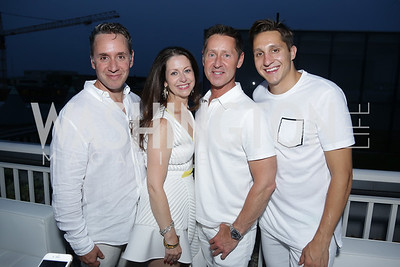 Michael Sigal, Yvette Freeman, Joe Freeman, Scott Teribury. Photo by Tony Powell. Fourth Annual All-White Clothing Charity Event. June 2, 2016