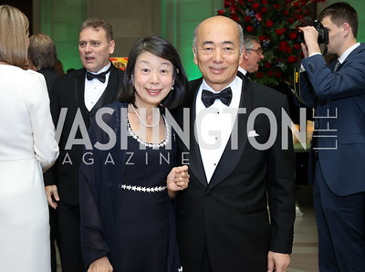 Nobuko Sasae and Japan Amb. Kenichiro Sasae. Photo by Tony Powell. Gala to Celebrate the 60th Anniversary of the 1956 Hungarian Revolution. Mellon Auditorium. October 16, 2016