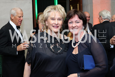 Janet Staihar, Hungary Amb. Reka Szemerkenyi. Photo by Tony Powell. Gala to Celebrate the 60th Anniversary of the 1956 Hungarian Revolution. Mellon Auditorium. October 16, 2016