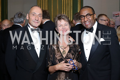 Thomas Krähenbühl and Dorothy Kosinski, Eric Motley. Photo by Tony Powell. Gala to Celebrate the 60th Anniversary of the 1956 Hungarian Revolution. Mellon Auditorium. October 16, 2016