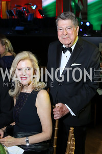 Jane and Calvin Cafritz. Photo by Tony Powell. Gala to Celebrate the 60th Anniversary of the 1956 Hungarian Revolution. Mellon Auditorium. October 16, 2016