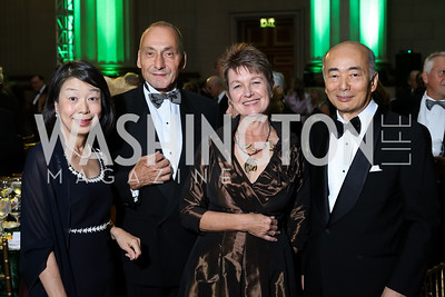 Nobuko Sasae, Thomas Krähenbühl, Dorothy Kosinski, Japan Amb. Kenichiro Sasae. Photo by Tony Powell. Gala to Celebrate the 60th Anniversary of the 1956 Hungarian Revolution. Mellon Auditorium. October 16, 2016