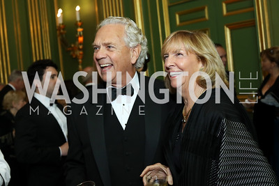 John Jeppson and Wendy Benchley. Photo by Tony Powell. Gala to Celebrate the 60th Anniversary of the 1956 Hungarian Revolution. Mellon Auditorium. October 16, 2016
