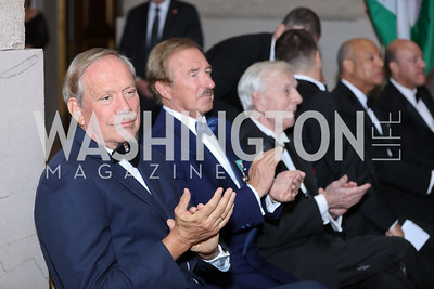 Gov. George Pataki, Steven Udvar-Házy. Photo by Tony Powell. Gala to Celebrate the 60th Anniversary of the 1956 Hungarian Revolution. Mellon Auditorium. October 16, 2016