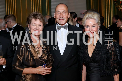 Dorothy Kosinski and Thomas Krähenbühl, Mary Ourisman. Photo by Tony Powell. Gala to Celebrate the 60th Anniversary of the 1956 Hungarian Revolution. Mellon Auditorium. October 16, 2016