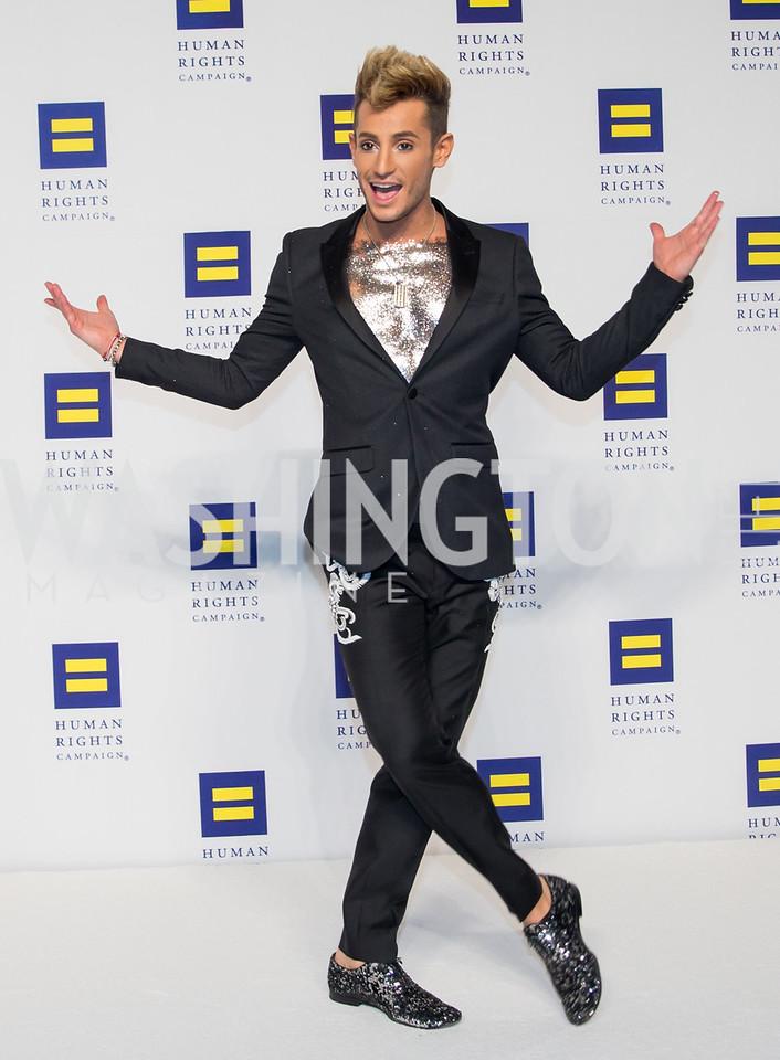 Frankie Grande. Photo by Erin Schaff. HRC National Dinner 2016. Convention Center. September 10, 2016.