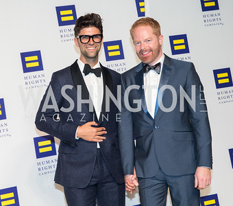 co-Founders of Tie the Knot Justin Mikita and Jesse Tyler. Photo by Erin Schaff. HRC National Dinner 2016. Convention Center. September 10, 2016.