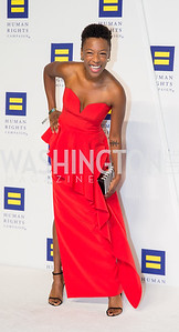 Actor Samira Wiley. Photo by Erin Schaff. HRC National Dinner 2016. Convention Center. September 10, 2016.