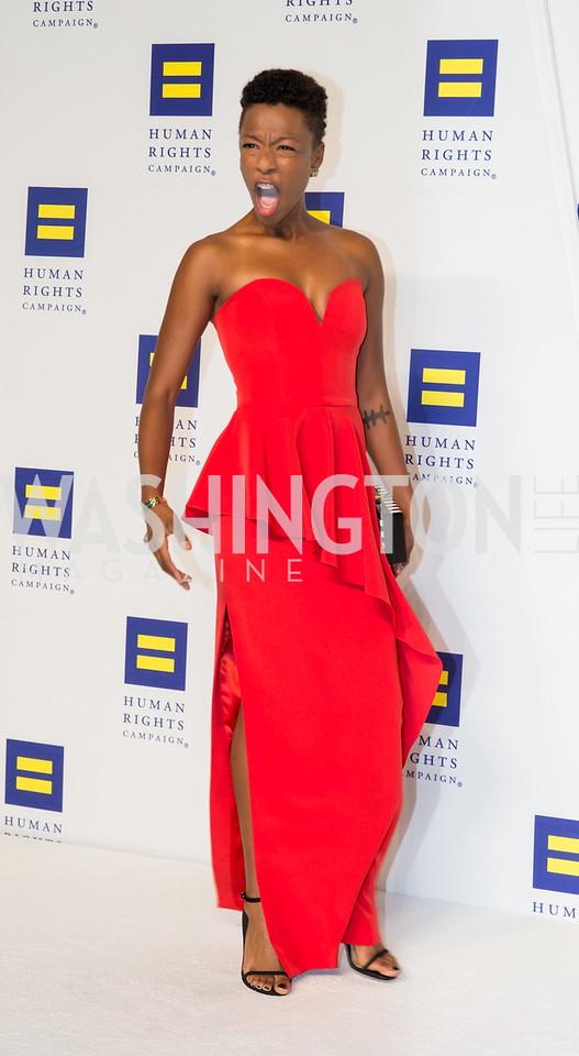 Actor Samira Wiley. Photo by Erin Schaff. HRC National Dinner 2016. Convention Center. September 10, 2016.