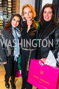 Rose Procopio, Princess Sophie Habsburg, Diane Brown. Photo by Alfredo Flores. Handbag event with Sophie Habsburg. Fig & Olive. April 6, 2016