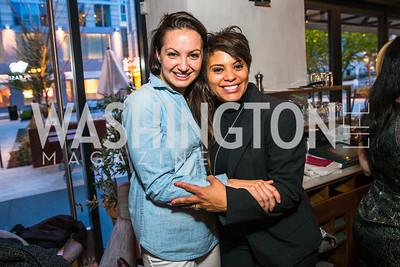 Frances Holuba, Tiffany Rose. Photo by Alfredo Flores. Handbag event with Sophie Habsburg. Fig & Olive.