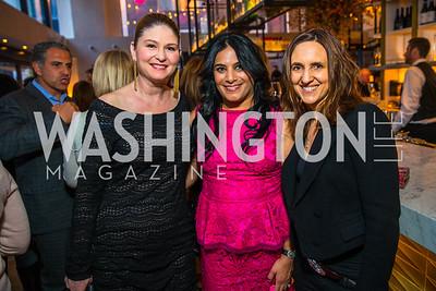Shannon Goins, Alka Dhillon, Elizabeth Muir. Photo by Alfredo Flores. Handbag event with Sophie Habsburg. Fig & Olive. April 6, 2016