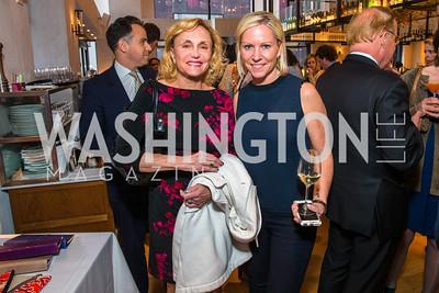 Nancy Bulger, Jill Daschle. Photo by Alfredo Flores. Handbag event with Sophie Habsburg. Fig & Olive. April 6, 2016