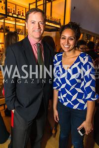 John Hanshaw, Dev Agarwal. Photo by Alfredo Flores. Handbag event with Sophie Habsburg. Fig & Olive.
