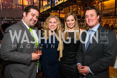 Justin Herman, Alison Lemon, Annie Leech, Brett Logan. Photo by Alfredo Flores. Handbag event with Sophie Habsburg. Fig & Olive. April 6, 2016