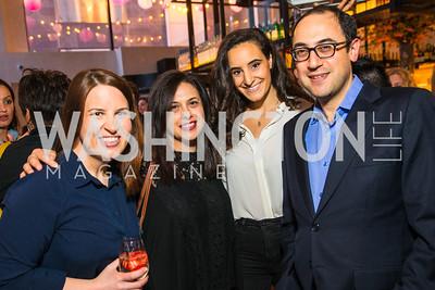 Christine Delargy, Garance Franke-Ruta, Sarah Badawi, Adam Green. Photo by Alfredo Flores. Handbag event with Sophie Habsburg. Fig & Olive. April 6, 2016