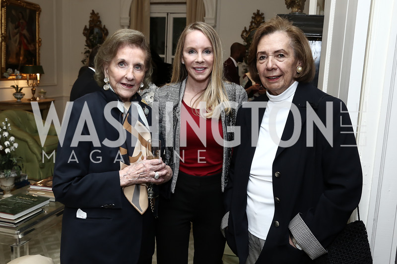 Wilhelmina Holladay, Cindy Jones, Ann Jordan. Photo by Tony Powell. Hillie Mahoney Book Party. April 22, 2016